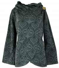 Cape Boho wrap jacket - black/grey