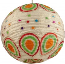 Corona round funny 35 cm, round lokta paper lampshade