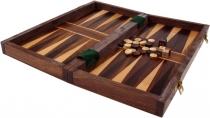 Board game, board game made of wood - Queen and Back-Gammon
