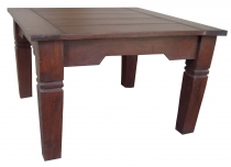 Dark brown square coffee table - model 7
