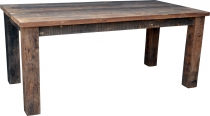Dining table made of rustic wooden planks (JH3-181)