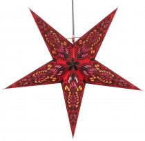 Foldable Advent illuminated paper star, Poinsettia 60 cm - Menor ..