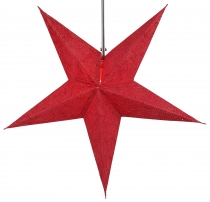 Foldable Advent illuminated paper star, Poinsettia 60 cm - Hercul..