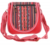 Ethno shoulder bag, Boho bag - red