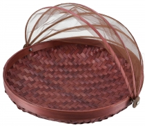 Fly protection fruit basket in 3 sizes - brown