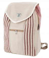 Ethno hemp backpack striped - nature/brown/striped