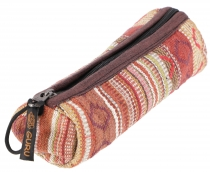 Large pencil case Ethno, pencil case - brown