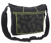 Ethno shoulder bag, Boho bag nib, Nepal bag - black