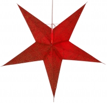 Foldable Advent illuminated paper star, Poinsettia 60 cm - Abacus..