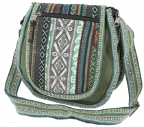 Ethno shoulder bag, Boho bag - olive green