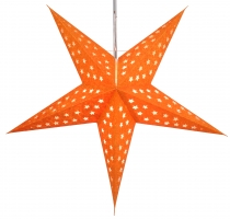 Foldable Advent illuminated paper star, Poinsettia 60 cm - Moonro..