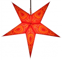 Foldable Advent illuminated paper star, poinsettia 60 cm - Helios