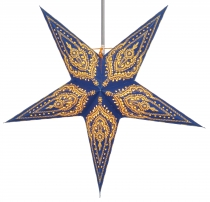 Foldable Advent illuminated paper star, Poinsettia 60 cm - Scorpi..