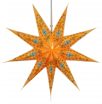 Foldable Advent illuminated paper star, Poinsettia 60 cm - Stella..