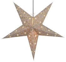 Foldable Advent illuminated paper star, Poinsettia 60 cm - Aida