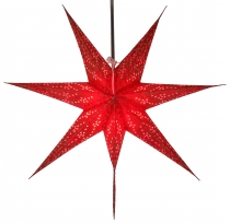 Foldable Advent illuminated paper star, Poinsettia 60 cm - Delfi