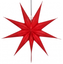 Foldable Advent illuminated paper star, Poinsettia 60 cm - Pegasu..