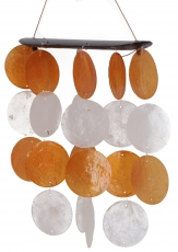 Long shell wind chime, sound play - orange white