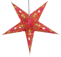 Foldable Advent light paper star, Christmas star 60 cm - Balloo