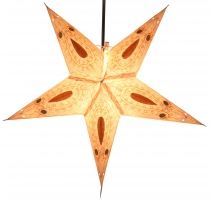 Foldable Advent illuminated paper star, Poinsettia 60 cm - Ontari..