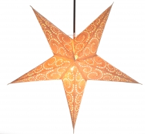 Foldable Advent illuminated paper star, Poinsettia 60 cm - Attila