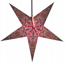 Foldable Advent light paper star, Christmas star 60 cm - Calea bl..