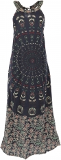 Long Boho summer dress, indian maxi dress - black