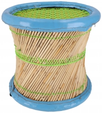 Colourful round reed basket stool in different colours - ca. 36 c..