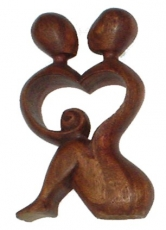 Wooden figure, statue, decoration object Feng Shui - `love`