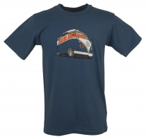 Fun T-Shirt `Bussi` - blue