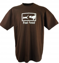 Fun T-Shirt `Fast Food` - brown