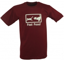 Fun T-Shirt `Fast Food` - red