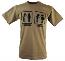 Fun T-Shirt `Problem solved` - beige