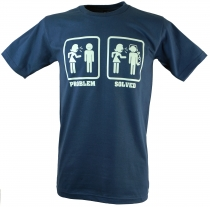 Fun T-Shirt `Problem solved` - blau