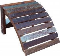 Recycled wood footstool - model 11