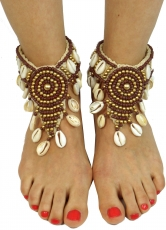 anklet, foot jewellery, goa jewellery, barefoot decoration - brow..