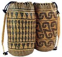 Woven Indonesian ethno backpack