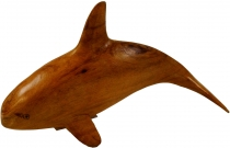 Carved small decorative figure - wooden dolphin