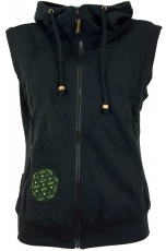 Goa Vest Flower Life - black/olive