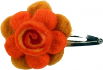 Hair slide `small flower`