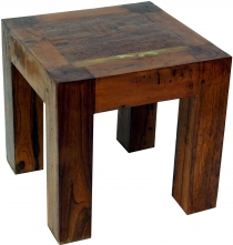 Stool, side table made of recycled teak large - model 2