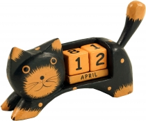 Wooden Calendar - Cat black