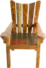 Wooden armchair, chair in recycled teak - Model 10