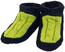 hut shoes, hippie wool slippers