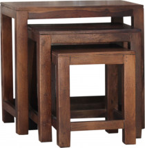 Stool, side table set with 3 stools