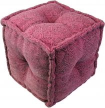 Kelim seatpouf, stool, cube - model 1