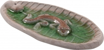 Ceramic incense holder `Gecko` - model 10