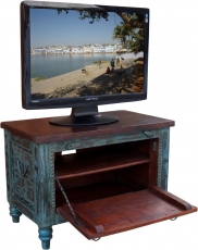 Small Plasma TV Box in colonial style TV table - blue