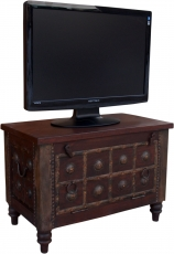 Small colonial style plasma TV box TV table - brown
