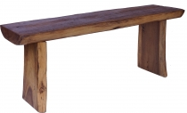 Solid table, sideboard made of tree trunk